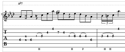Blues Guitar Lesson - Guitar Lick in the Style of T-Bone Walker