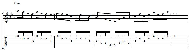 Guitar Lick with Intervals of 4ths - Lead Guitar Lesson
