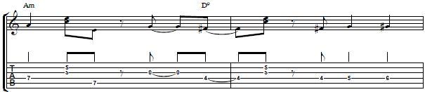 Easy Guitar Riff Over a II V Chord Progression - Rhythm Guitar Lesson