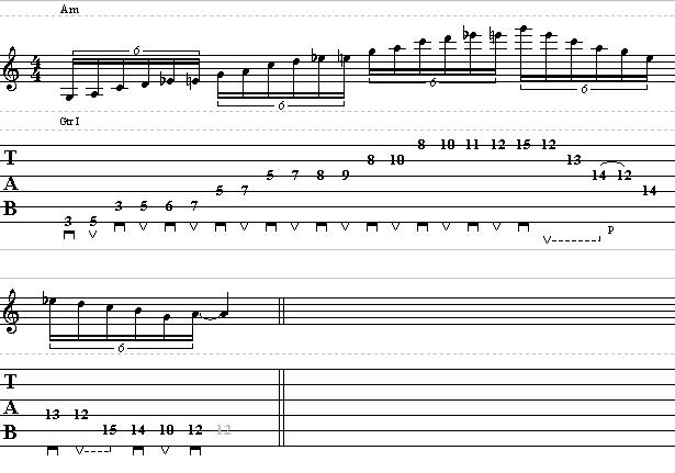 shred guitar lick using 3 octave pattern lead guitar lesson on shred licks. Black Bedroom Furniture Sets. Home Design Ideas