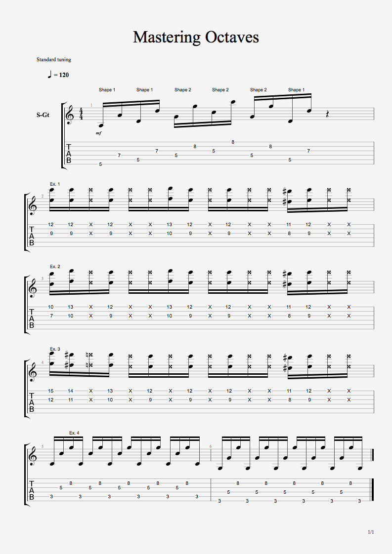 Mastering Octaves Over Funk Grooves - Rhythm Guitar Lessons