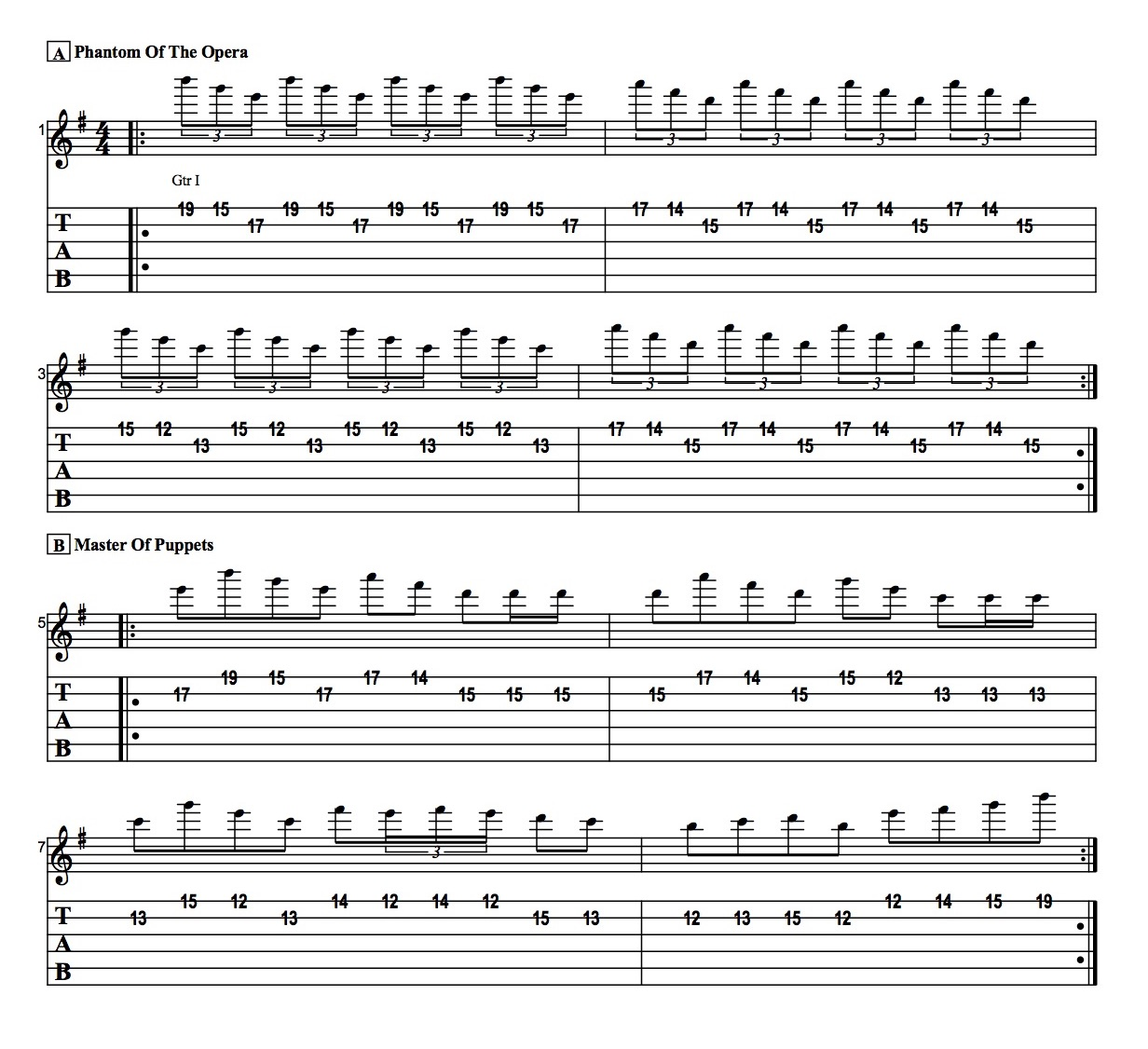 How To Play Arpeggios On Guitar Easy Phantom Of The Operamaster Of