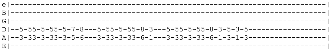 Guitar Riffs Tabs