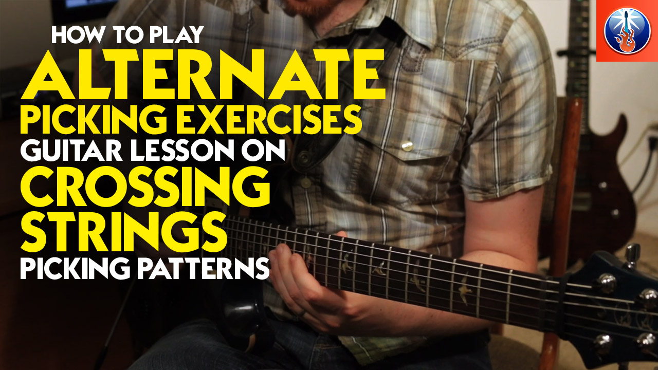 how to play alternate picking exercises. Black Bedroom Furniture Sets. Home Design Ideas