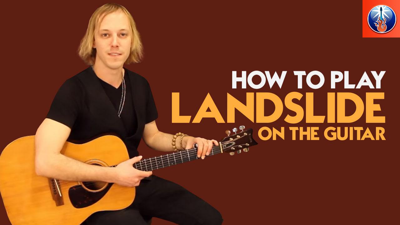 how to play landslide on the guitar landslide by fleetwood mac acoustic guitar lesson. Black Bedroom Furniture Sets. Home Design Ideas