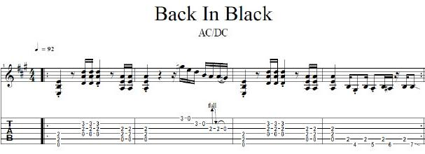 Guitar guitar tabs back in black : Guitar : guitar tabs back in black Guitar Tabs plus Guitar Tabs ...
