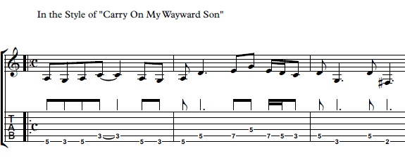 How To Play Carry On My Wayward Son Simple Guitar Lesson Beginner