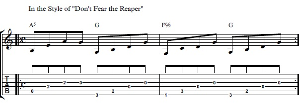 How to Play Don\'t Fear The Reaper On Guitar - Blue Oyster Cult Don\'t ...