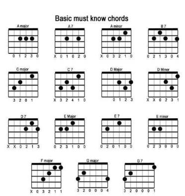 Which guitar chords to learn first