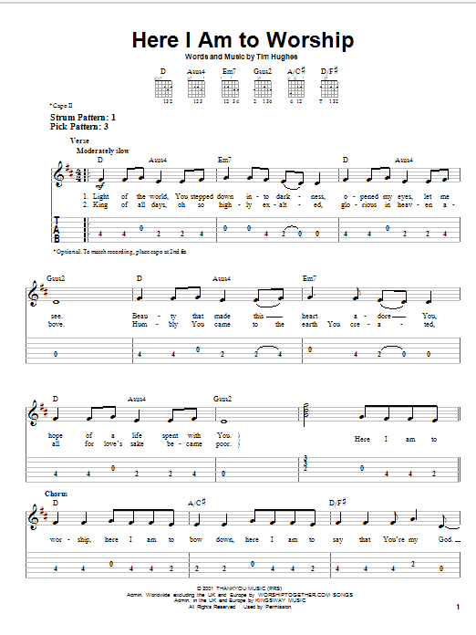 Guitar chords for christian songs beginners