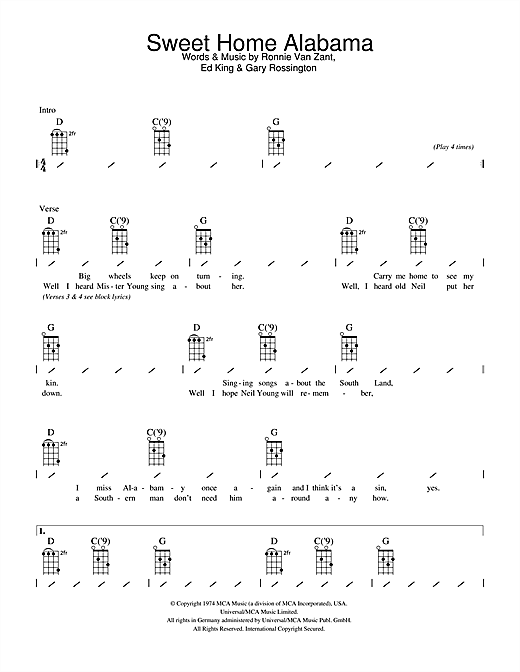 Banjo banjo tabs sweet home alabama : Guitar : easy guitar tabs popular songs Easy Guitar Tabs Popular ...