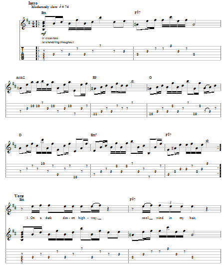Guitar guitar tablature hotel california : Easy Guitar Tabs