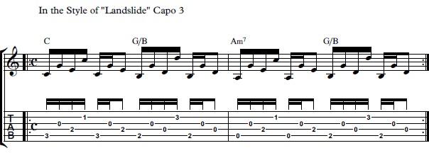 How to Play Landslide On The Guitar - Landslide by Fleetwood Mac ...