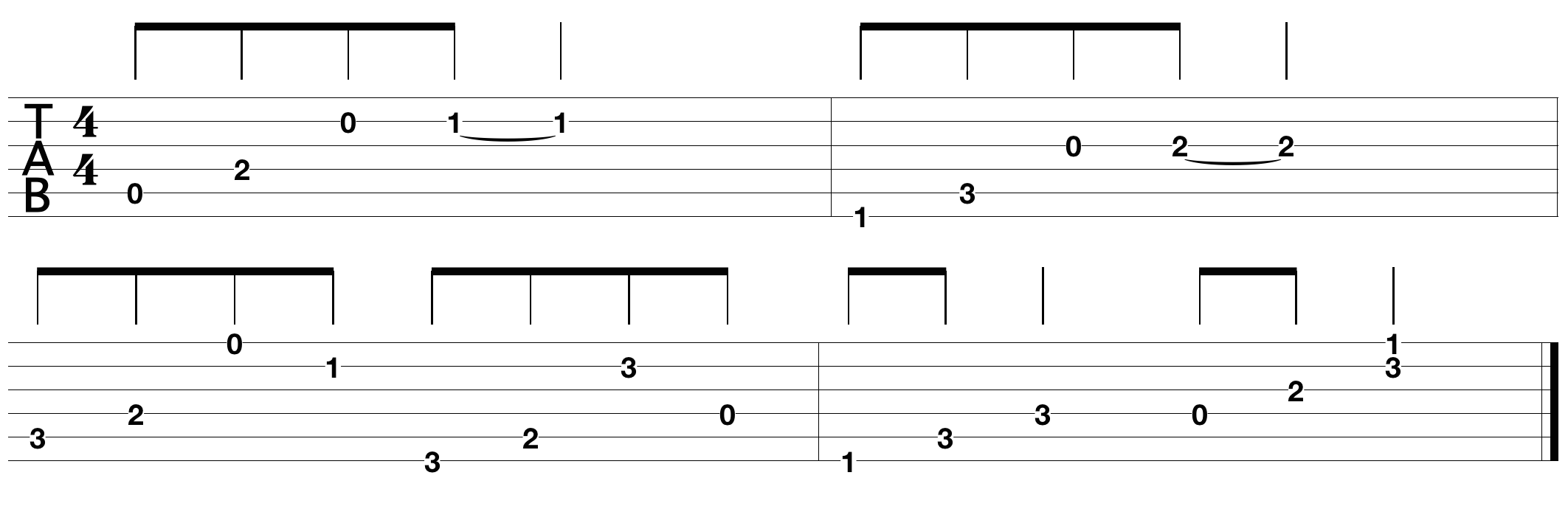 very easy guitar tabs