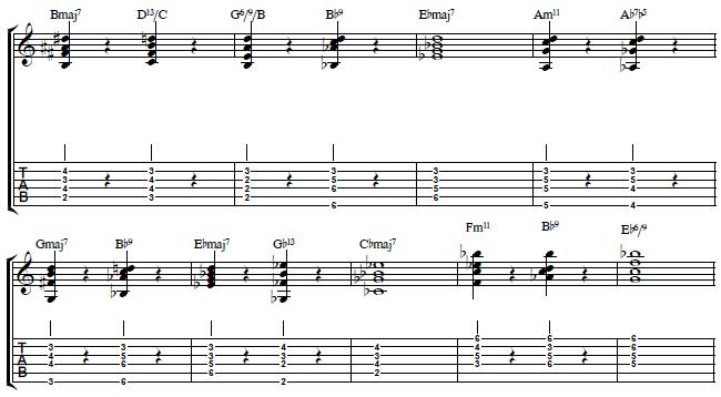 John Coltranes Giant Steps Chord Voicings