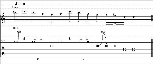 Guitar lick lesson