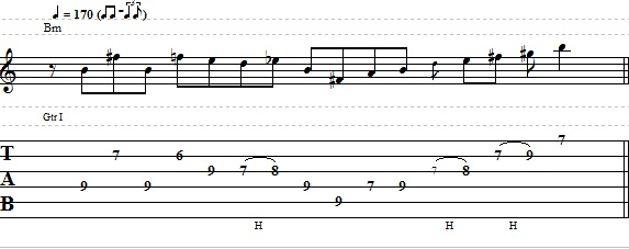 Easy Blues Rock Lick For Electric Guitar Tab
