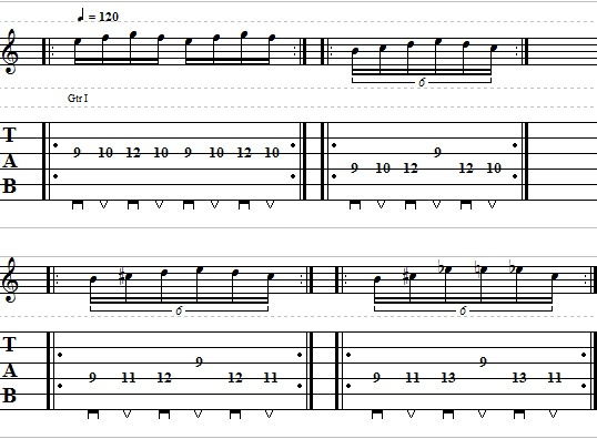 Can find guitar speed lick lessons