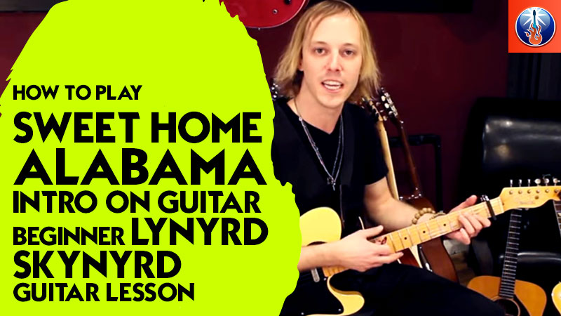 How to Play Sweet Home Alabama Intro On Guitar