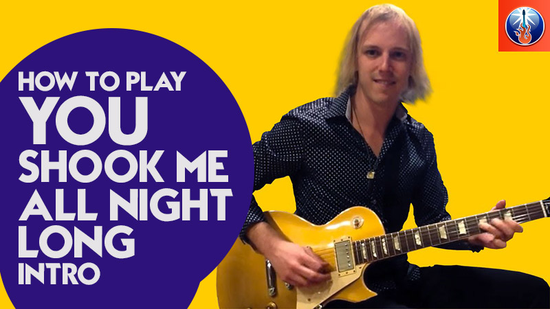 How to Play You Shook Me All Night Long Intro