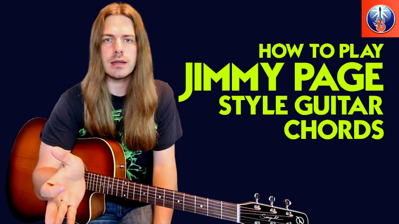 Jimmy Page style guitar chords