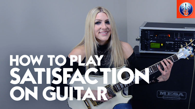 How to Play Satisfaction on Gutiar