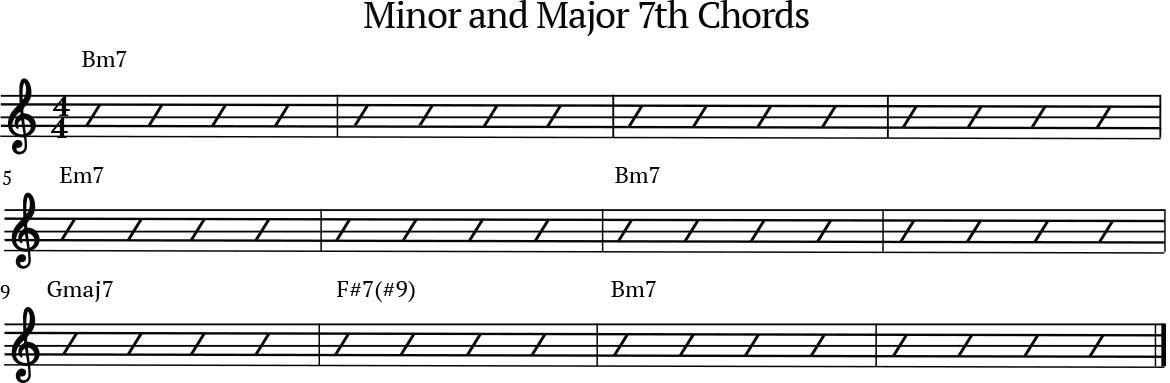 Minor 7th and Major 7th chords